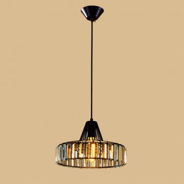 Подвесной светильник Citilux Эдисон CL450212, 1xE27x75W, черный, прозрачный, металл, хрусталь - миниатюра 2