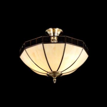 Потолочная люстра Citilux Шербург-1 CL440141, 3xE27x75W, бронза, бежевый, прозрачный, металл, стекло - миниатюра 2
