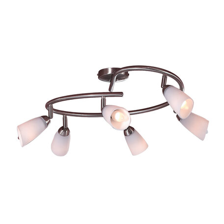 Потолочная люстра с регулировкой направления света Citilux Белла CL501161, 6xE14x60W, хром, белый, металл, стекло