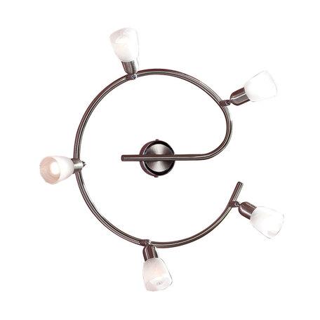 Потолочная люстра с регулировкой направления света Citilux Ронда CL506551, 5xE14x60W, хром, белый, металл, стекло