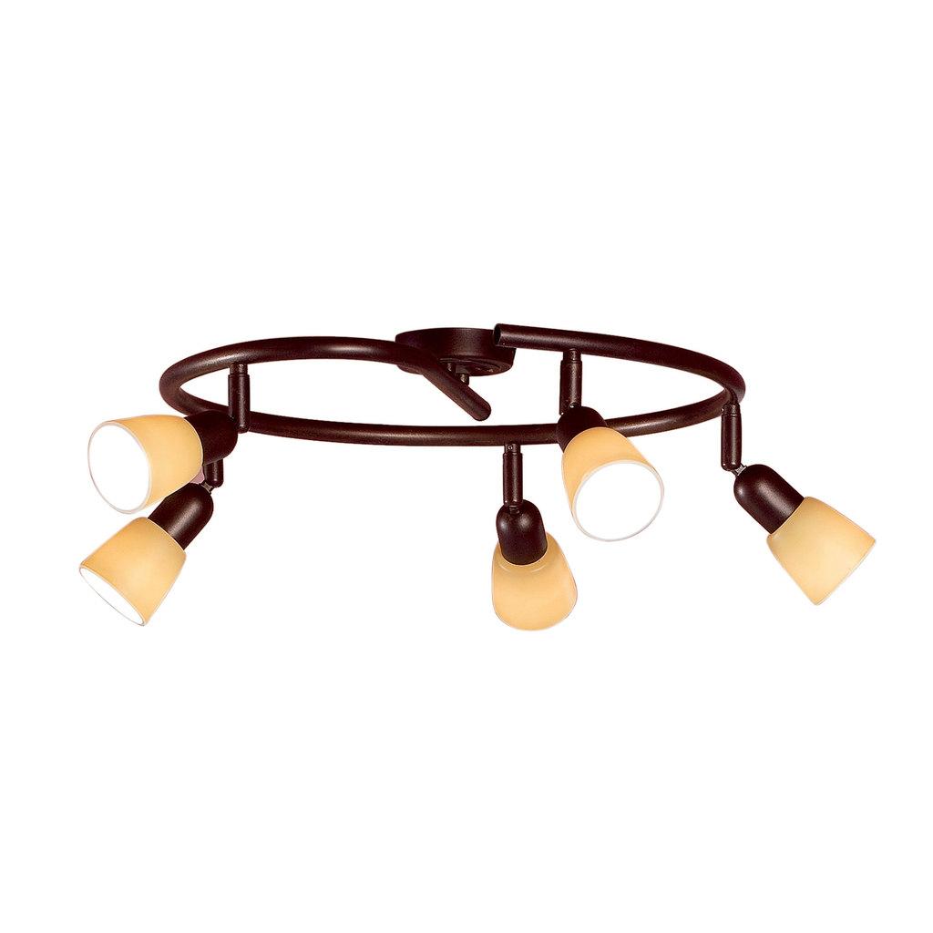 Потолочная люстра с регулировкой направления света Citilux Ронда CL506554, 5xE14x60W, коричневый, бежевый, металл, стекло - фото 1