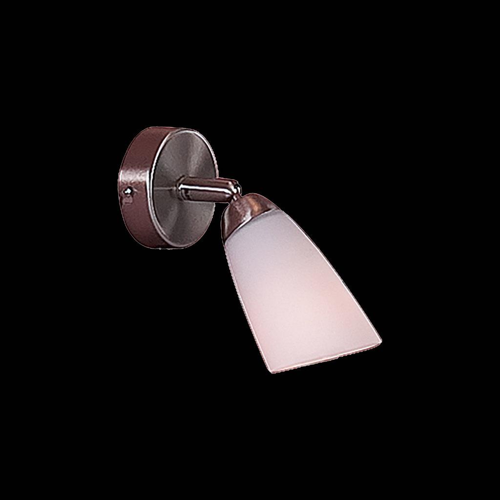 Настенный светильник с регулировкой направления света Citilux Белла CL501511, 1xE14x60W, хром, белый, металл, стекло - фото 2