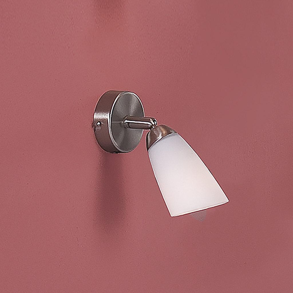 Настенный светильник с регулировкой направления света Citilux Белла CL501511, 1xE14x60W, хром, белый, металл, стекло - фото 3