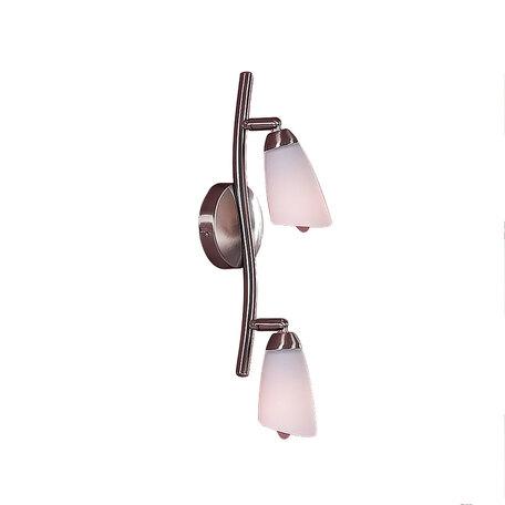 Потолочный светильник с регулировкой направления света Citilux Белла CL501521, 2xE14x60W, хром, белый, металл, стекло