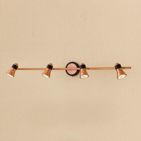 Потолочный светильник с регулировкой направления света Citilux Техно CL503542, 4xGU10x50W, медь, металл - миниатюра 1
