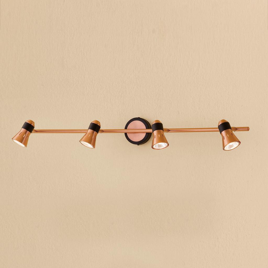 Потолочный светильник с регулировкой направления света Citilux Техно CL503542, 4xGU10x50W, медь, металл - фото 1