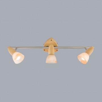 Настенный светильник с регулировкой направления света Citilux Монте CL505531, 3xE14x60W, коричневый, хром, белый, дерево, металл, стекло - миниатюра 3