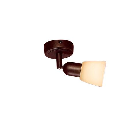 Потолочный светильник с регулировкой направления света Citilux Ронда CL506514, 1xE14x60W, коричневый, бежевый, металл, стекло