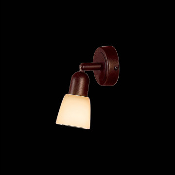 Потолочный светильник с регулировкой направления света Citilux Ронда CL506514, 1xE14x60W, коричневый, бежевый, металл, стекло - миниатюра 2