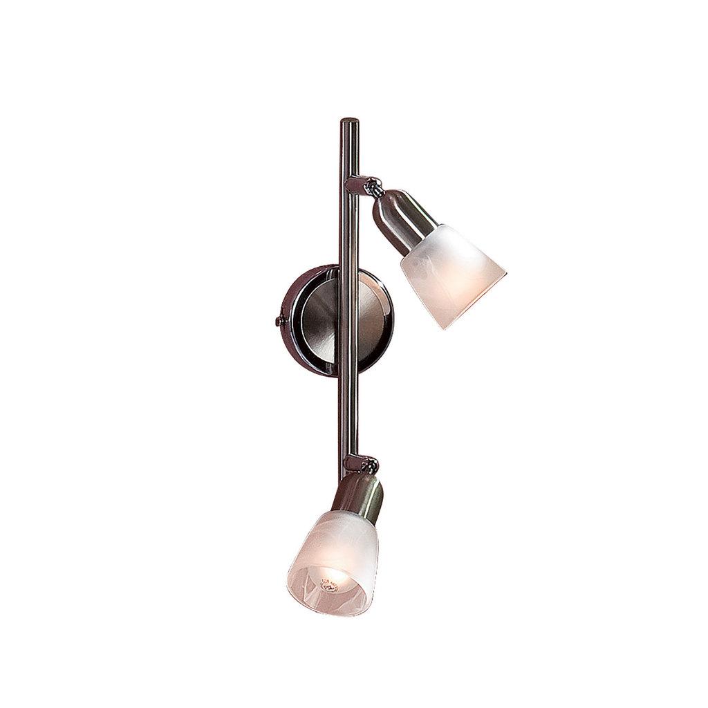 Потолочный светильник с регулировкой направления света Citilux Ронда CL506521, 2xE14x60W, хром, белый, металл, стекло - фото 1