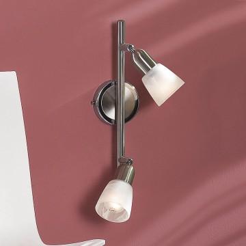 Потолочный светильник с регулировкой направления света Citilux Ронда CL506521, 2xE14x60W, хром, белый, металл, стекло - миниатюра 2