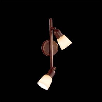 Потолочный светильник с регулировкой направления света Citilux Ронда CL506524, 2xE14x60W, коричневый, бежевый, металл, стекло - миниатюра 2