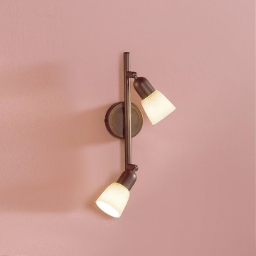 Потолочный светильник с регулировкой направления света Citilux Ронда CL506524, 2xE14x60W, коричневый, бежевый, металл, стекло - миниатюра 3