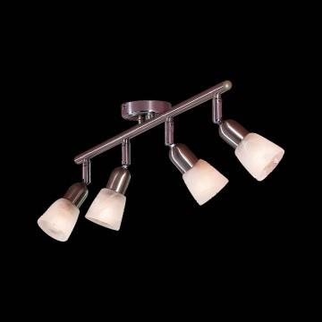 Потолочный светильник с регулировкой направления света Citilux Ронда CL506541, 4xE14x60W, хром, белый, металл, стекло - миниатюра 2