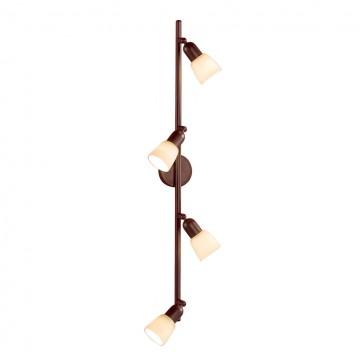 Потолочный светильник с регулировкой направления света Citilux Ронда CL506544, 4xE14x60W, коричневый, бежевый, металл, стекло