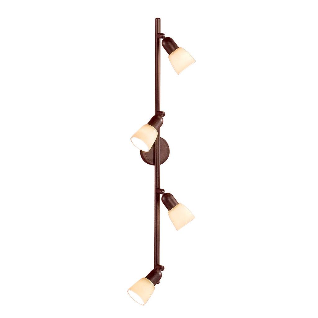 Потолочный светильник с регулировкой направления света Citilux Ронда CL506544, 4xE14x60W, коричневый, бежевый, металл, стекло - фото 1