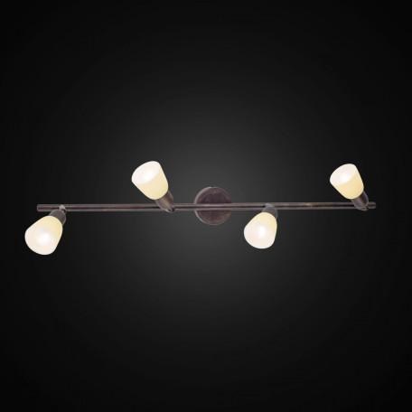 Потолочный светильник с регулировкой направления света Citilux Ронда CL506544, 4xE14x60W, коричневый, бежевый, металл, стекло - миниатюра 2