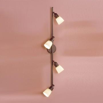 Потолочный светильник с регулировкой направления света Citilux Ронда CL506544, 4xE14x60W, коричневый, бежевый, металл, стекло - миниатюра 3