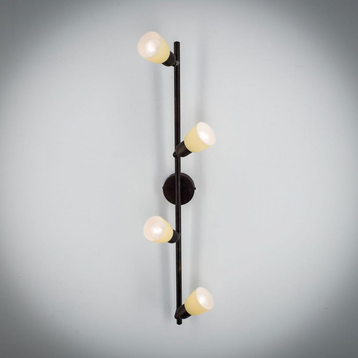 Потолочный светильник с регулировкой направления света Citilux Ронда CL506544, 4xE14x60W, коричневый, бежевый, металл, стекло - фото 3