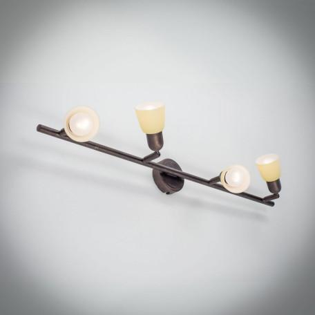 Потолочный светильник с регулировкой направления света Citilux Ронда CL506544, 4xE14x60W, коричневый, бежевый, металл, стекло - миниатюра 5