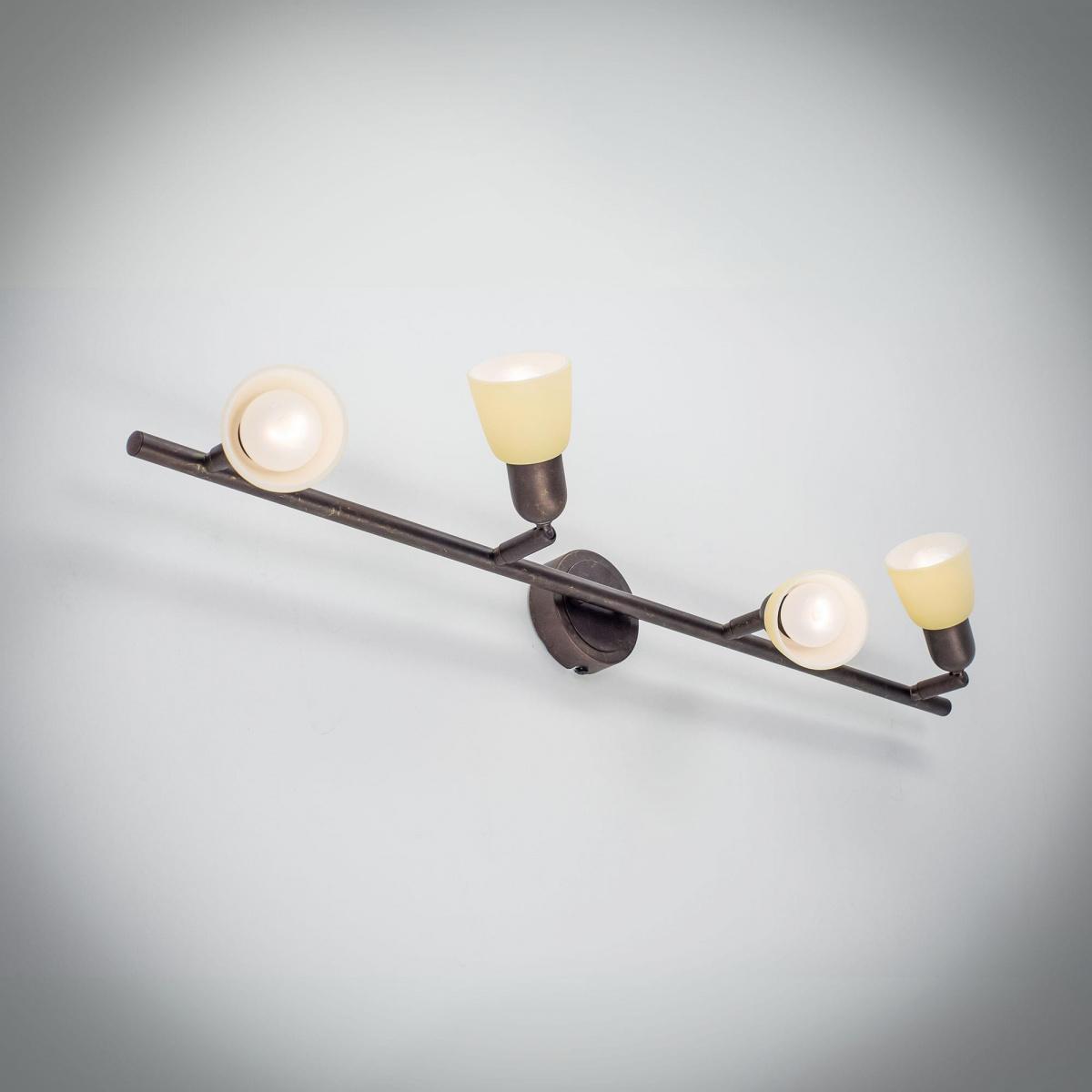 Потолочный светильник с регулировкой направления света Citilux Ронда CL506544, 4xE14x60W, коричневый, бежевый, металл, стекло - фото 5