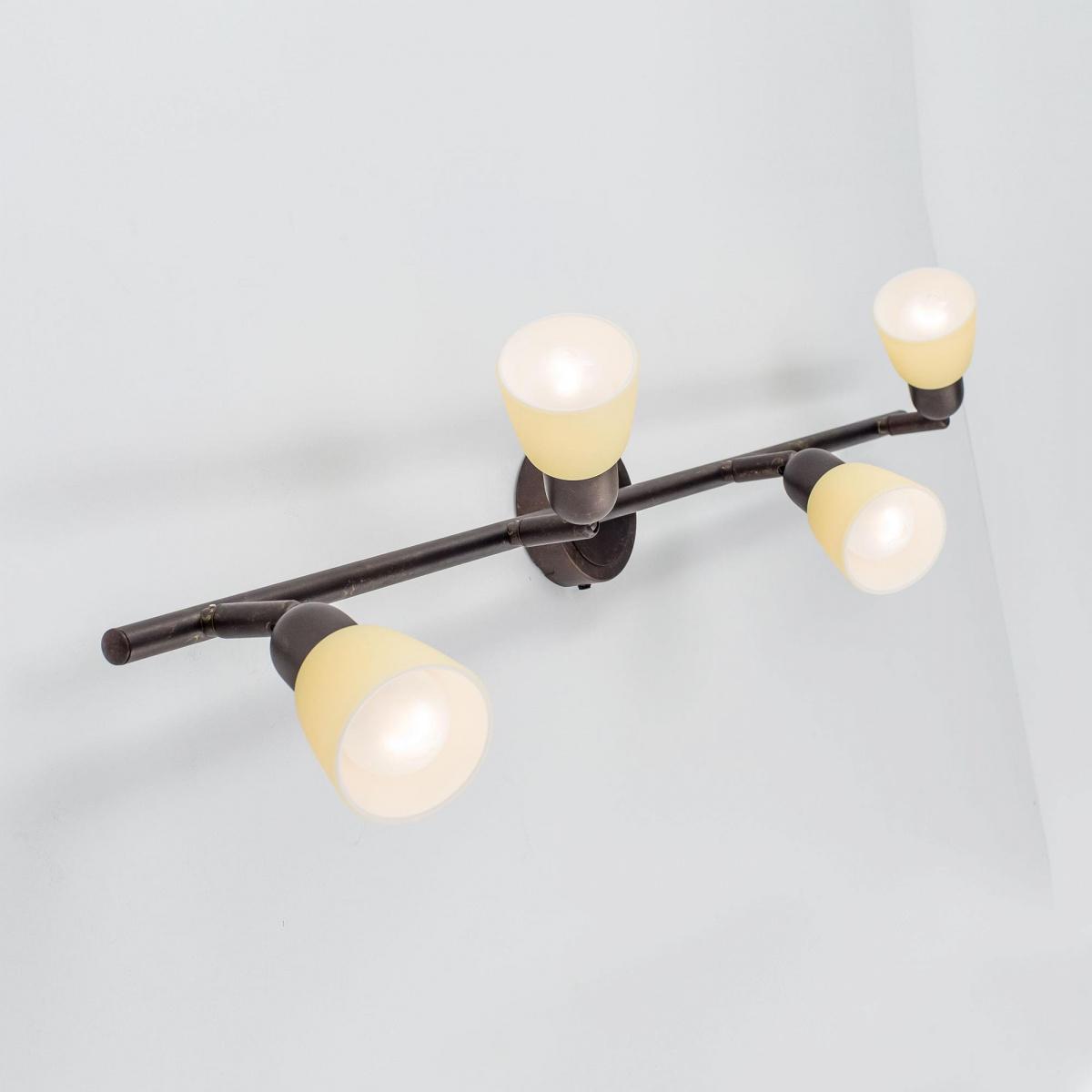 Потолочный светильник с регулировкой направления света Citilux Ронда CL506544, 4xE14x60W, коричневый, бежевый, металл, стекло - фото 6