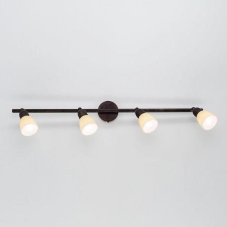 Потолочный светильник с регулировкой направления света Citilux Ронда CL506544, 4xE14x60W, коричневый, бежевый, металл, стекло - миниатюра 7