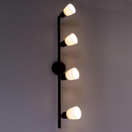 Потолочный светильник с регулировкой направления света Citilux Ронда CL506544, 4xE14x60W, коричневый, бежевый, металл, стекло - миниатюра 8