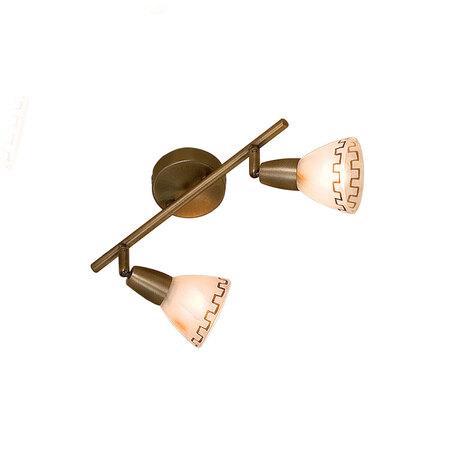 Потолочный светильник с регулировкой направления света Citilux Афина CL507523, 2xE14x60W, бронза, металл, стекло