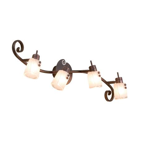Потолочный светильник с регулировкой направления света Citilux Верона CL513541, 4xG9x40W, коричневый, белый, металл, стекло