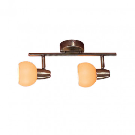 Потолочный светильник с регулировкой направления света Citilux Бонго CL516523, 2xE14x60W, бронза, бежевый, металл, стекло