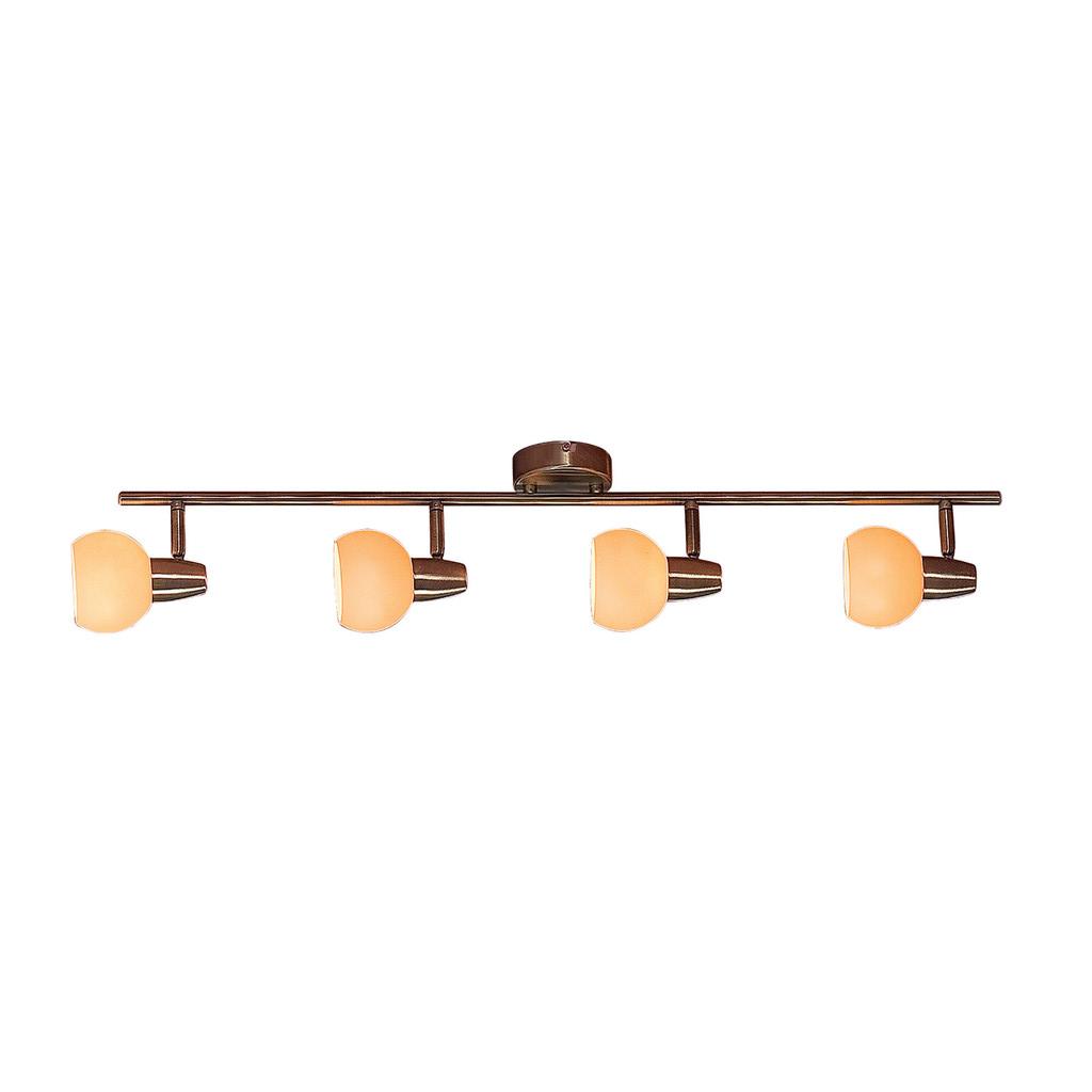 Потолочный светильник с регулировкой направления света Citilux Бонго CL516543, 4xE14x60W, бронза, бежевый, металл, стекло - фото 1