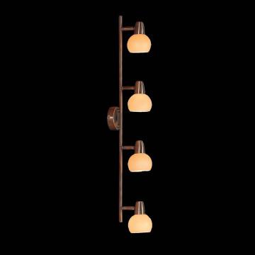 Потолочный светильник с регулировкой направления света Citilux Бонго CL516543, 4xE14x60W, бронза, бежевый, металл, стекло - миниатюра 2