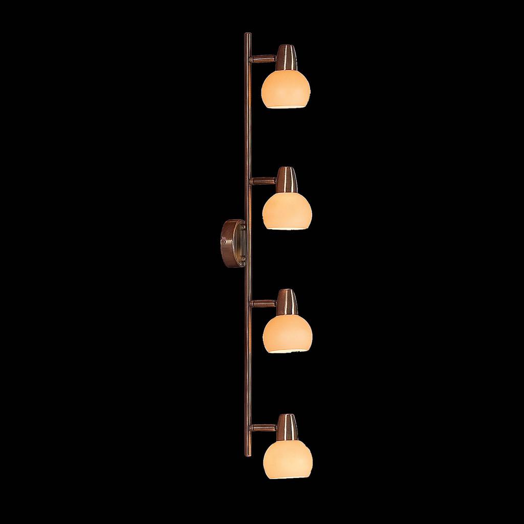 Потолочный светильник с регулировкой направления света Citilux Бонго CL516543, 4xE14x60W, бронза, бежевый, металл, стекло - фото 2