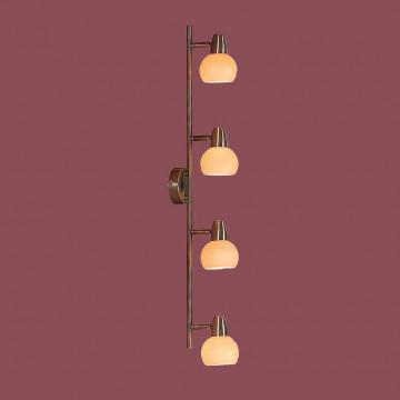 Потолочный светильник с регулировкой направления света Citilux Бонго CL516543, 4xE14x60W, бронза, бежевый, металл, стекло - миниатюра 3