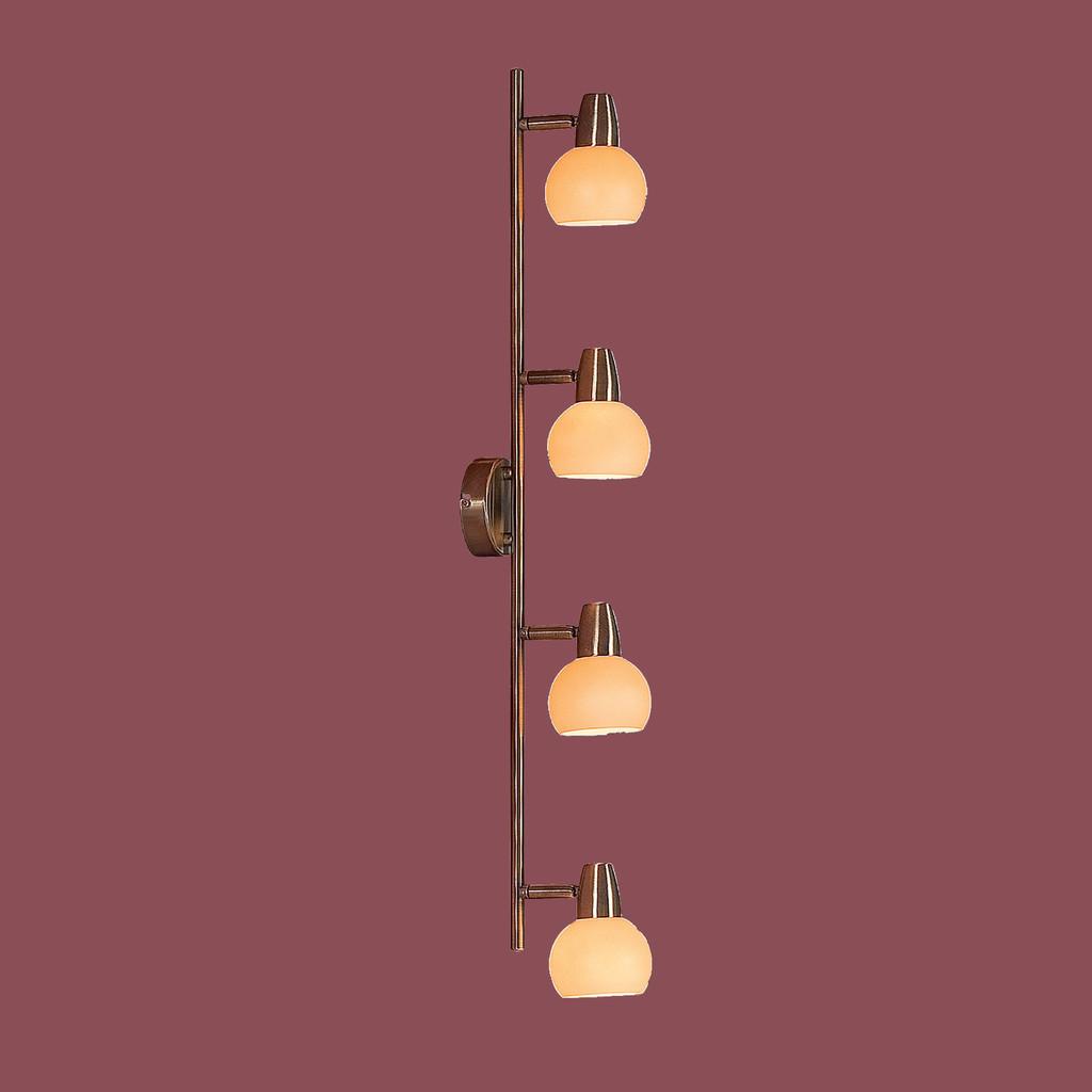 Потолочный светильник с регулировкой направления света Citilux Бонго CL516543, 4xE14x60W, бронза, бежевый, металл, стекло - фото 3