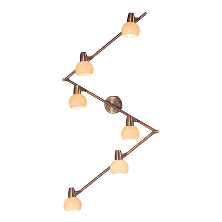 Потолочный светильник с регулировкой направления света Citilux Бонго CL516563, 6xE14x60W, бронза, бежевый, металл, стекло