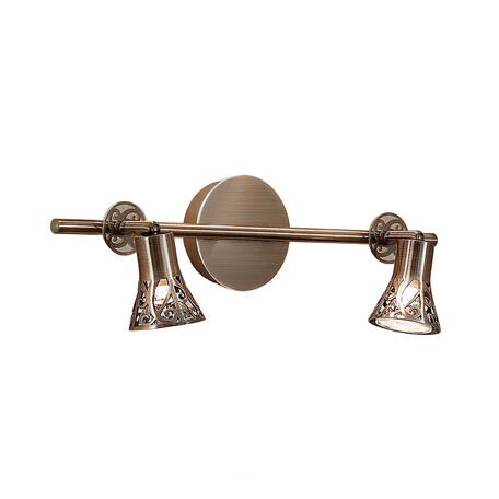 Настенный светильник с регулировкой направления света Citilux Винон CL519523, 2xGU10x50W, бронза, металл