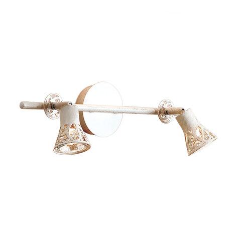 Настенный светильник с регулировкой направления света Citilux Винон CL519525, 2xGU10x50W, бежевый с золотой патиной, металл
