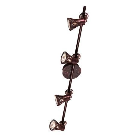 Потолочный светильник с регулировкой направления света Citilux Винон CL519544, 4xGU10x50W, коричневый, металл