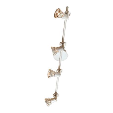 Потолочный светильник с регулировкой направления света Citilux Винон CL519545, 4xGU10x50W, бежевый с золотой патиной, металл - миниатюра 1