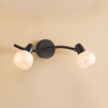 Потолочный светильник с регулировкой направления света Citilux Соната CL520525, 2xE14x60W, коричневый, бежевый, металл, стекло