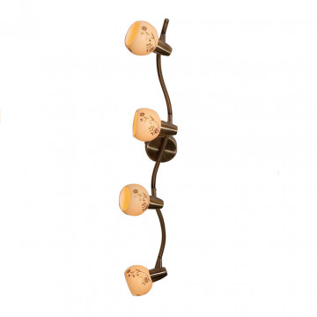 Потолочный светильник с регулировкой направления света Citilux Соната CL520543, 4xE14x60W, бронза, бежевый, металл, стекло
