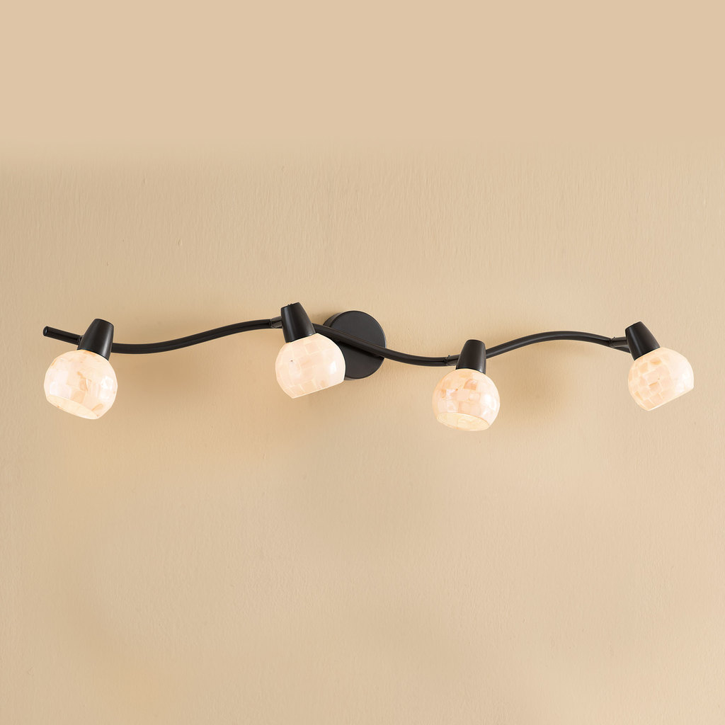 Потолочный светильник с регулировкой направления света Citilux Соната CL520545, 4xE14x60W, коричневый, перламутровый, металл, стекло - фото 1