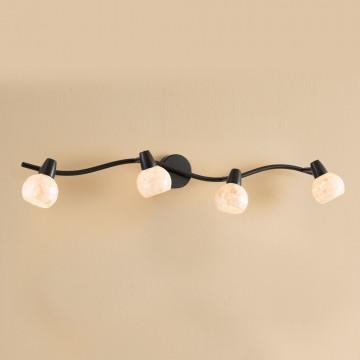 Потолочный светильник с регулировкой направления света Citilux Соната CL520545, 4xE14x60W, коричневый, бежевый, металл, стекло - миниатюра 2