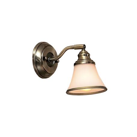 Бра с регулировкой направления света Citilux Прованс CL511513, 1xE14x60W, бронза, белый, металл, стекло
