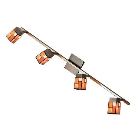 Настенный светильник с регулировкой направления света Citilux Латина CL514541, 4xG9x40W, бронза, разноцветный, металл, стекло
