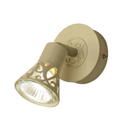 Настенный светильник с регулировкой направления света Citilux Винон CL519515, 1xGU10x50W, бежевый с золотой патиной, металл