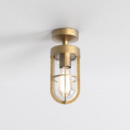 Потолочный светильник Astro Cabin Coastal 1368032, IP44, 1xE27x60W, матовое золото, металл, металл со стеклом