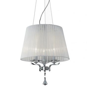Ideal Lux Pegaso 164212, 3xE14x40W, металл, хрусталь, текстиль